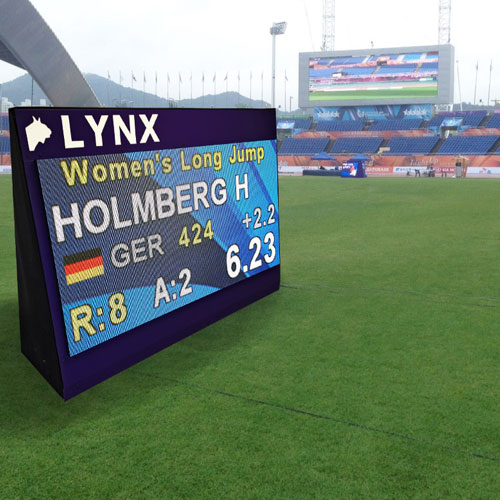 Large LED Video Infield Display for Athletics - Single Sided